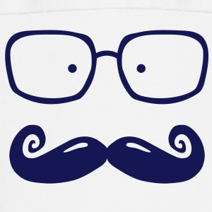 glasses and moustache Delantales - Delantal de cocina