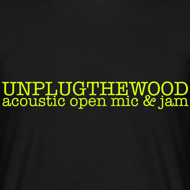 Unplug The Wood - T-shirt - Letterbox Neon - Mens