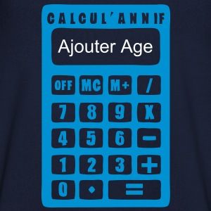 ajouter age ans calculatrice anniversair Tee shirts - T-shirt Homme col V