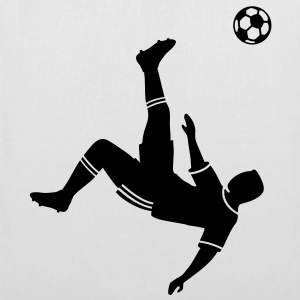 Bicycle kick soccer ball soccer player football Bags  - Tote Bag