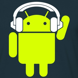 Android Headphone - Mannen T-shirt