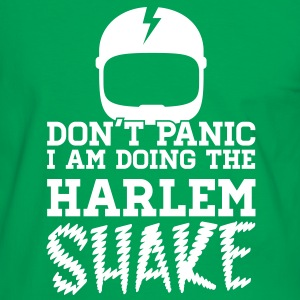 Don't panic do the Harlem shake meme dance t-shirt Magliette - Maglietta Contrast da uomo