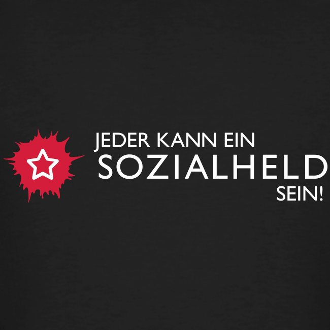 """Männer-Shirt """"Held"""", schwarz"""