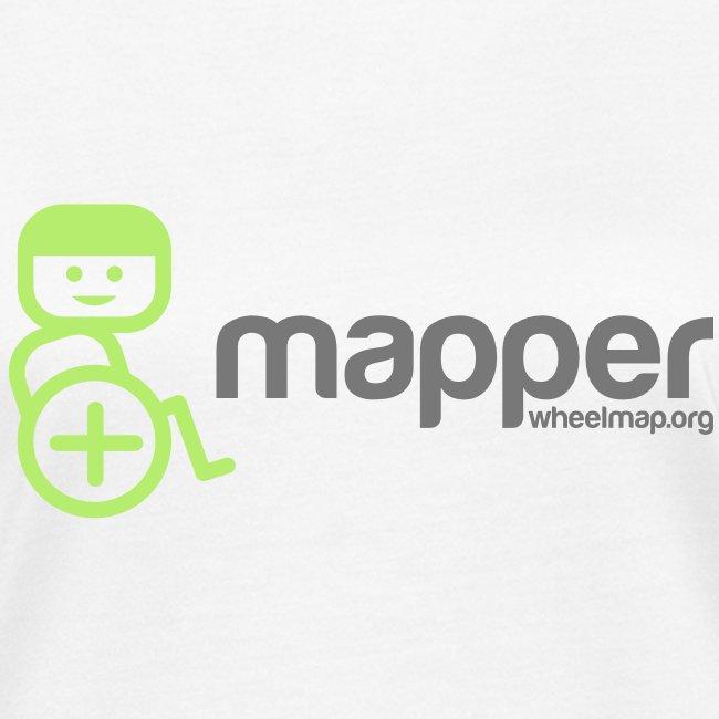 "Frauen-Shirt ""Mapper"", weiß"