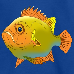 Kindershirt dicker Fisch Buntbarsch - Kinder T-Shirt
