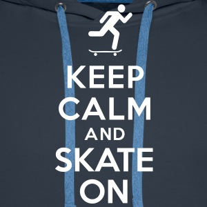 Keep calm and skate on Sweat-shirts - Sweat-shirt à capuche Premium pour hommes