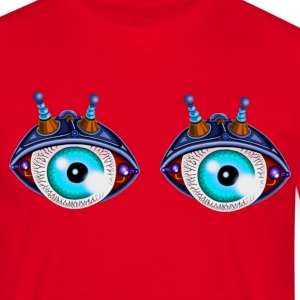 twin bleu eyes robot - T-shirt Homme