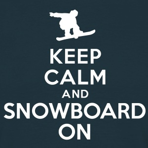 Keep calm and snowboard on Tee shirts - T-shirt Homme