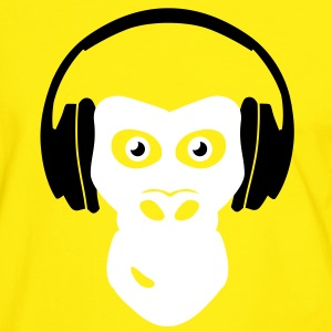 gorilla with headphones T-Shirts - Männer Kontrast-T-Shirt