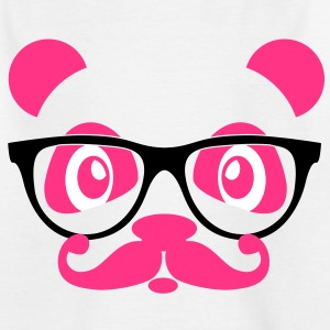 nerd panda with moustache and glasses Tee shirts - T-shirt Enfant
