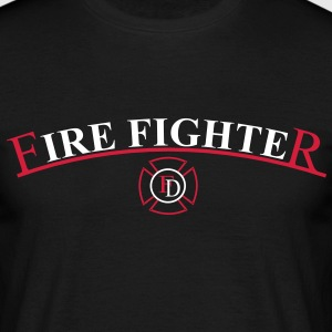 Fire Fighter Shirt mit Malteserkreuz - Männer T-Shirt