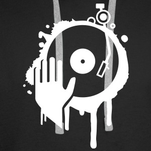 Hand scratching a record on a turntable Hoodies & Sweatshirts - Men's Premium Hoodie