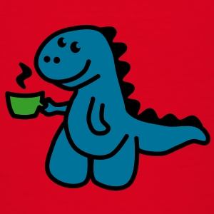 Coffee Makes My Day t rex  Skjorter - T-skjorte for barn