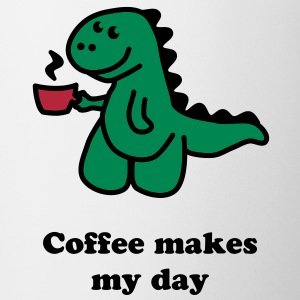 Coffee Makes My Day t rex  Bouteilles et tasses - Tasse