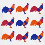 Design ~ Multi Chicken Brights Unisex T-shirt