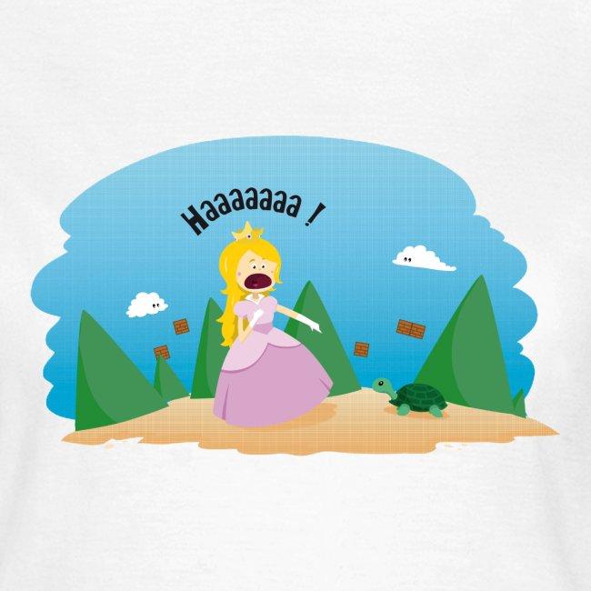 T-shirt Geekette - Au secours une tortue !