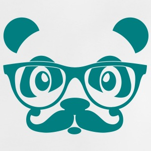 nerd panda with moustache and glasses Tee shirts - T-shirt Bébé