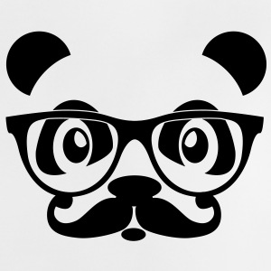 nerd panda with moustache and glasses Shirts - Baby T-Shirt