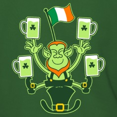 Leprechaun Juggling Beers and Irish Flag Hoodies &