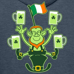 Leprechaun Juggling Beers and Irish Flag Hoodies & - Men's Premium Hoodie