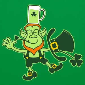 Leprechaun Balancing a Glass of Beer on his Head B - Tote Bag
