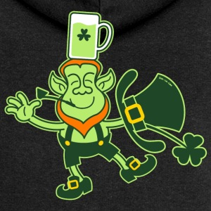 Leprechaun Balancing a Glass of Beer on his Head H - Women's Premium Hooded Jacket
