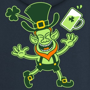 Euphoric Leprechaun Celebrating St Patrick's Day H - Women's Premium Hooded Jacket