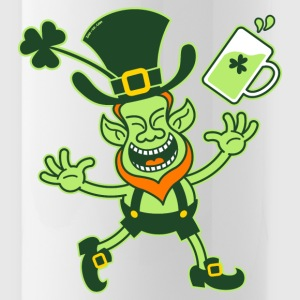 Euphoric Leprechaun Celebrating St Patrick's Day B - Water Bottle