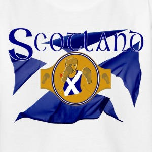 Scotland boxing flag and belt graphic Shirts - Teenage T-shirt
