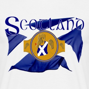 scotland boxing flag and belt graphic T-Shirts - Men's T-Shirt