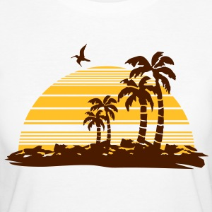 sunset island T-shirts - Organic damer