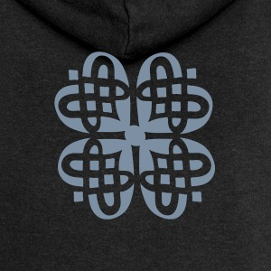 Shamrock Celtic knot decoration patjila Hoodies & Sweatshirts - Women's Premium Hooded Jacket