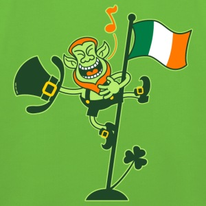Leprechaun Singing on an Irish Flag Pole Hoodies - Kids' Premium Hoodie