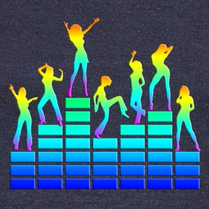 Dancing girls - equalizer - EQ -  music - sound Sweaters - Vrouwen trui met U-hals van Bella