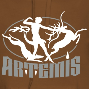 artemis_goddess_of_the_hunt Felpe - Felpa con cappuccio premium da donna