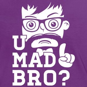 Like a cool you mad story bro moustache Tee shirts - T-shirt contraste Femme