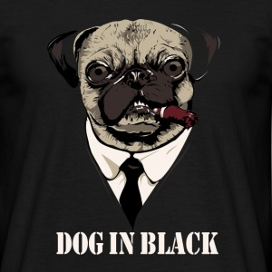Dog In Black - Herre-T-shirt