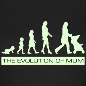 The Evolution of Mum Glow-In-The-Dark T-Shirt - Women's T-Shirt