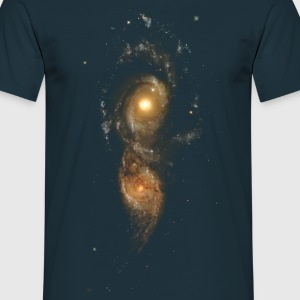 Space - Colliding Galaxies - Men's T-Shirt