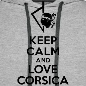 Keep calm love Corsica Sweat-shirts - Sweat-shirt à capuche Premium pour hommes