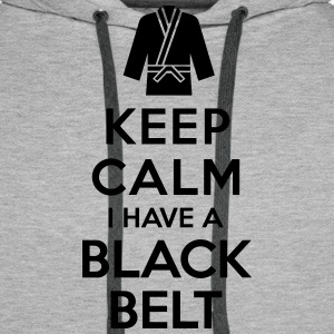 Keep calm i have a black belt Sweat-shirts - Sweat-shirt à capuche Premium pour hommes