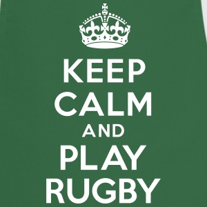 Keep calm play Rugby Tabliers - Tablier de cuisine