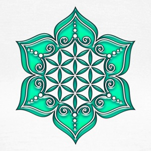 Fleur de Vie - Flower of life, Lotus - Flower, Heart Chakra, green, Symbol of perfection and  Tee shirts - T-shirt Femme