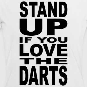 stand up if you love the darts T-Shirts - Frauen Kontrast-T-Shirt