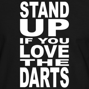 Stand up if you love the Darts Tee shirts - T-shirt contraste Homme