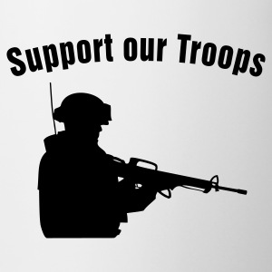 Support our Troops / soldier Botellas y tazas - Taza