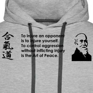 To Injure an Opponent Black Design - Men's Premium Hoodie