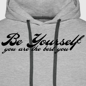 be yourself Sweatshirts - Herre Premium hættetrøje