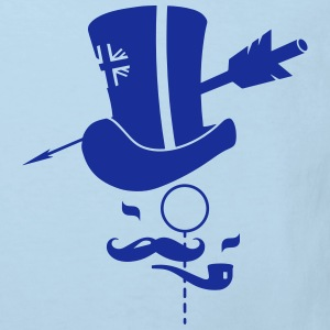 Cylinder hat, mustache, monocle, pipe and arrow Shirts - Kids' Organic T-shirt