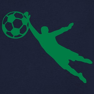 gardien but football soccer ballon1 Tee shirts - T-shirt Homme col V